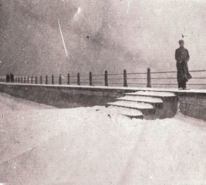 Snow on The Battery in 1899