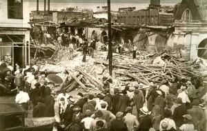 Aftermath of 1938 Tornado hitting Charleston, SC