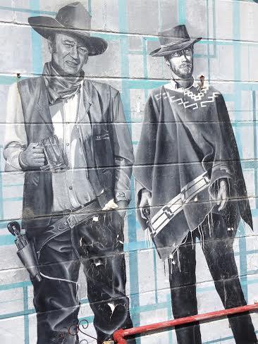 Clint Eastwood and John Wayne