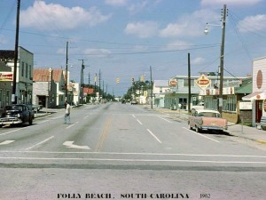 Folly Beach Streets - 1962