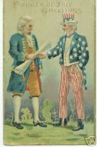 Uncle Sam and Thomas Jefferson