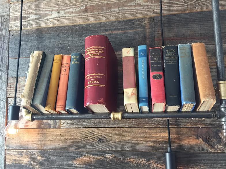Collection of books on the wall