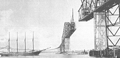 Construction of Cooper River Bridge 1929