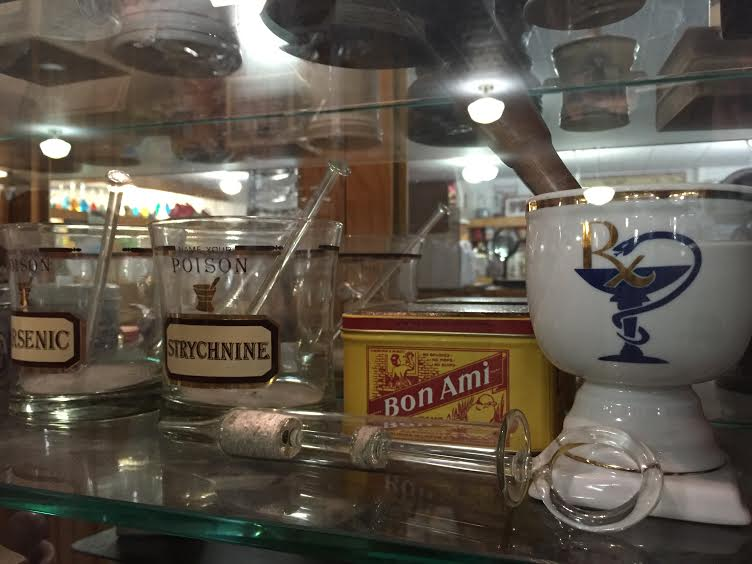 Wonderful display of old pharmacy memorabilia