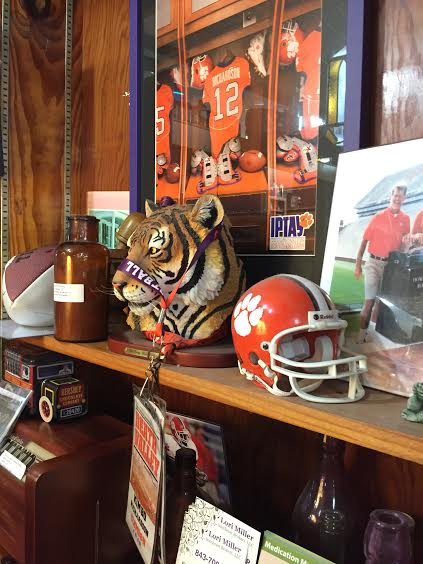 The owners support local teams and businesses but they are very Clemson