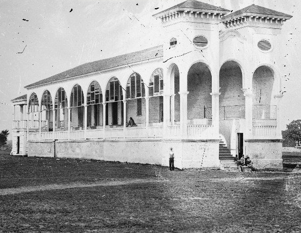 Race Track Clubhouse, Charleston 1865