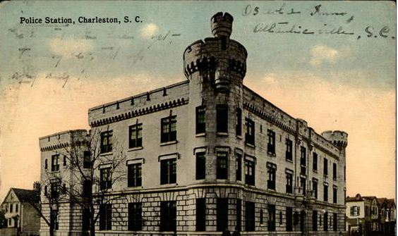 1914 Charleston Police Station Postcard