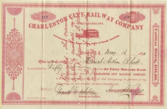 Charleston City Railway Ticket