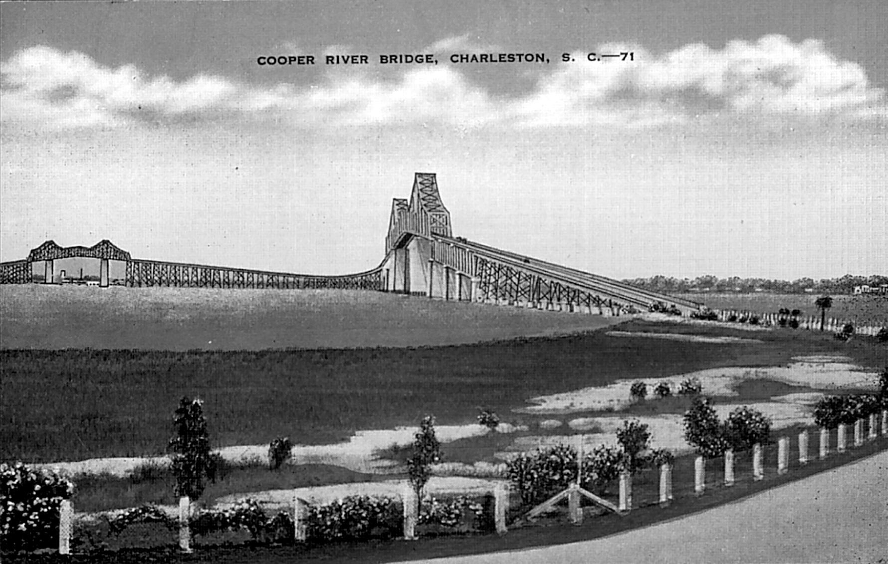 Old Cooper River Bridge Card - Mount Pleasant Side