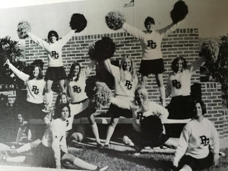 Porter-Gaud cheerleaders 1969