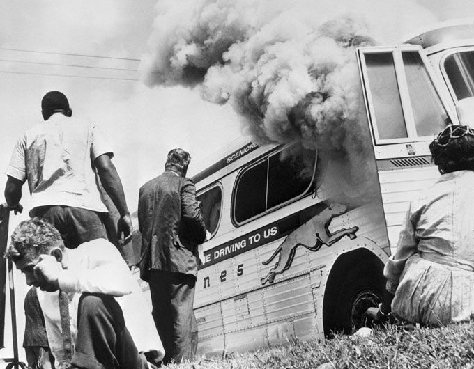 1961 Civil Rights Bus in Charleston assaulted