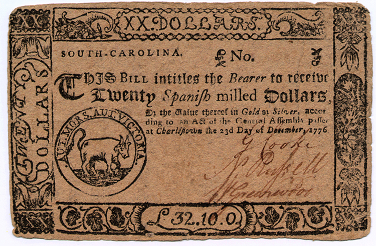 Early South Carolina Currency