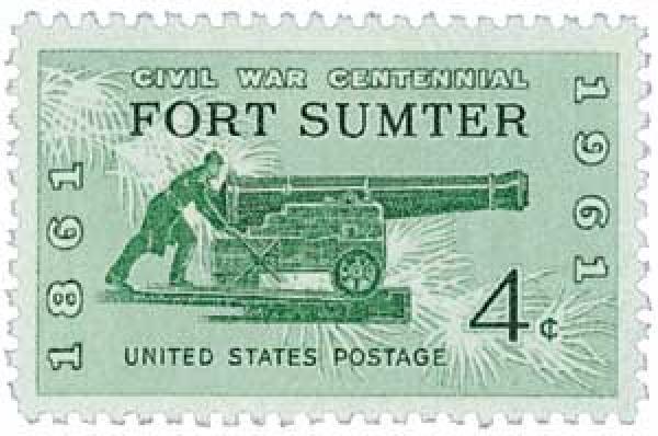 Fort Sumter Stamp 1961