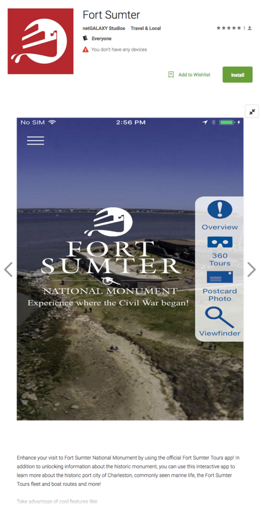 Fort Sumter Tours Unveils New Mobile App to Enhance Visitor